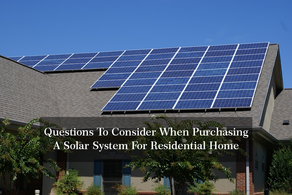 Solar System For Residential Home